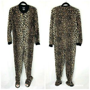 Nick and Nora Footed Pajamas One Piece Leopard Ani